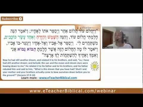 The dreams of Joseph | Biblical Hebrew Webinar by eTeacherBiblical.com