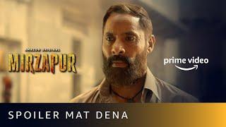 Spoiler Mat Dena Ft. Maqbool | MIRZAPUR 2 | Shaji Chaudhary | Amazon original