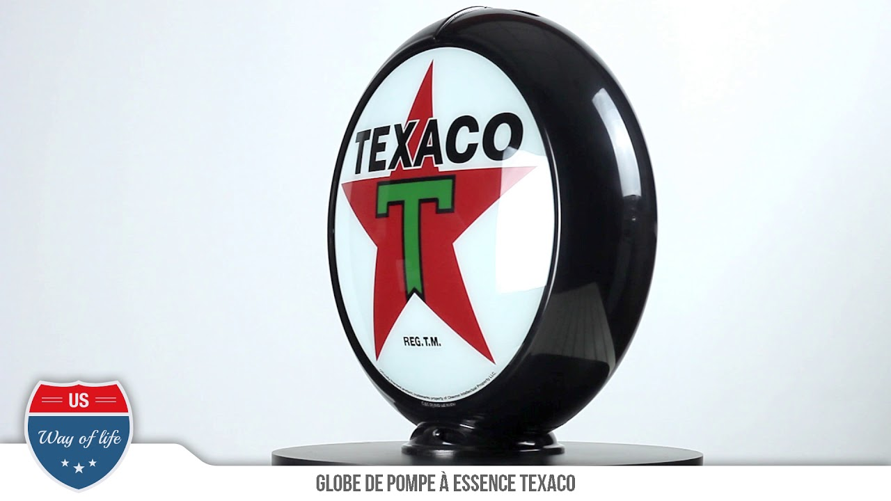 globe de pompe a essence texaco us way of life youtube. Black Bedroom Furniture Sets. Home Design Ideas