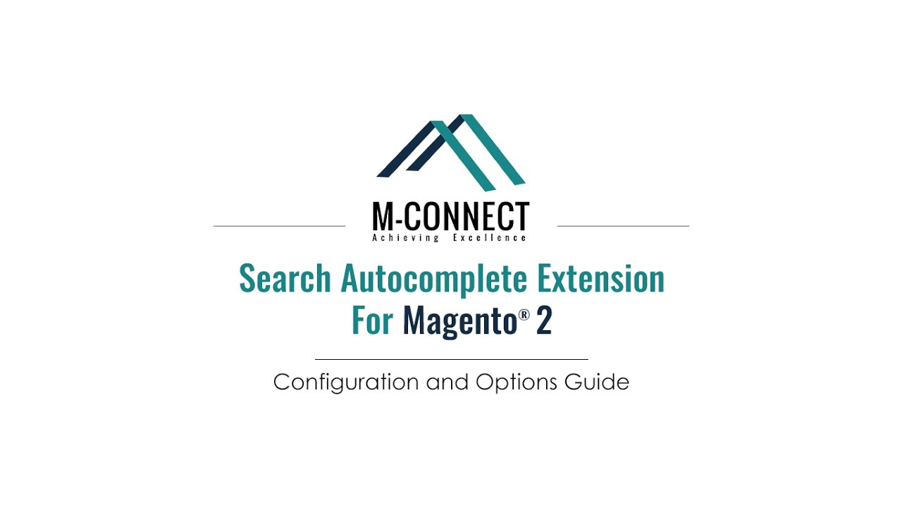 Configuration and Settings of Mconnect Search Autocomplete