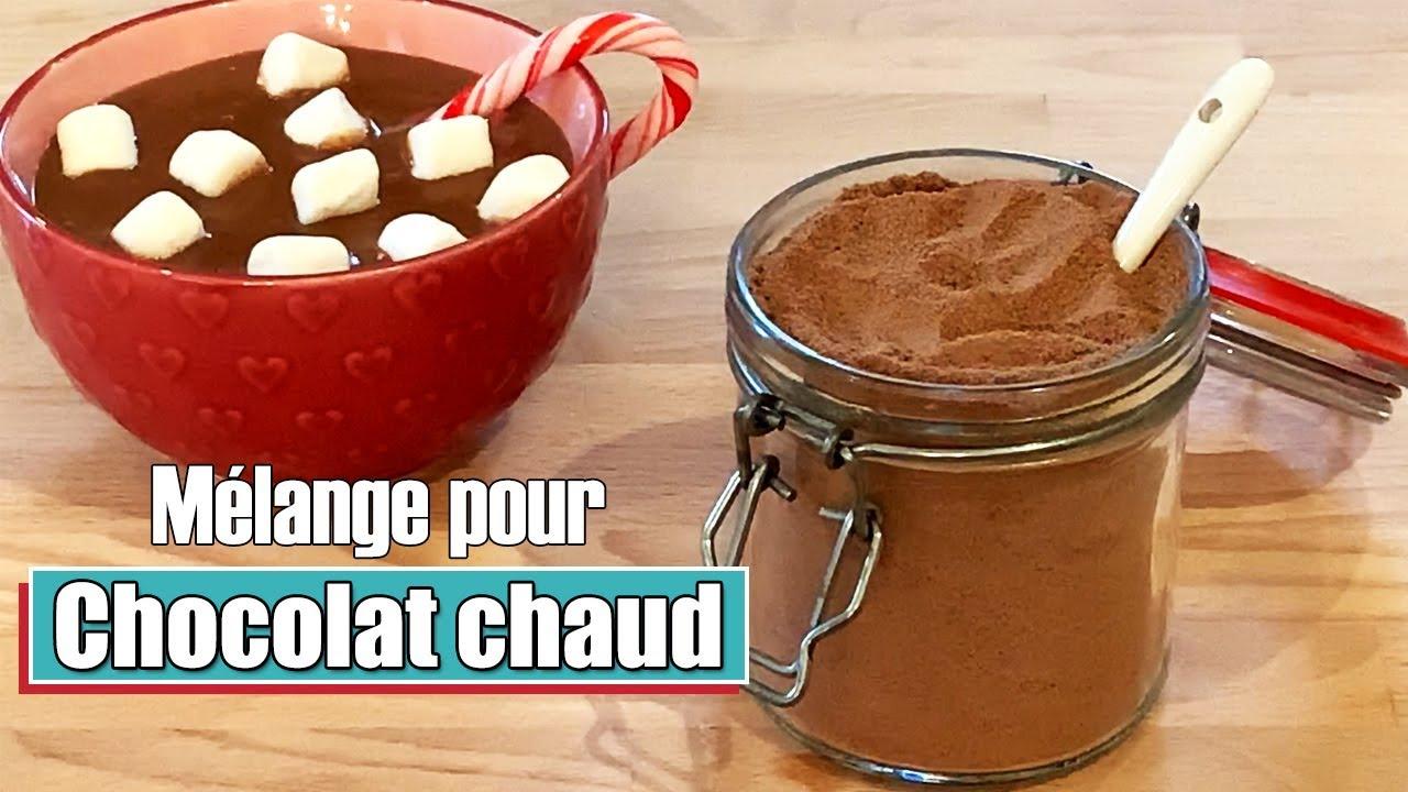melange chocolat chaud en poudre fait maison facile et rapide