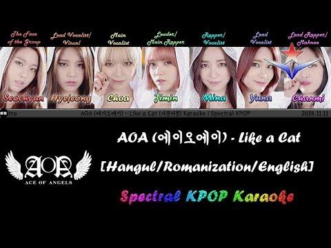 AOA (에이오에이) - Like a Cat (사뿐사뿐) Karaoke/Instrumental | Spectral KPOP