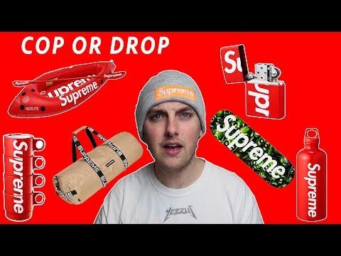 Supreme SS18 accessories (Cop or Drop)