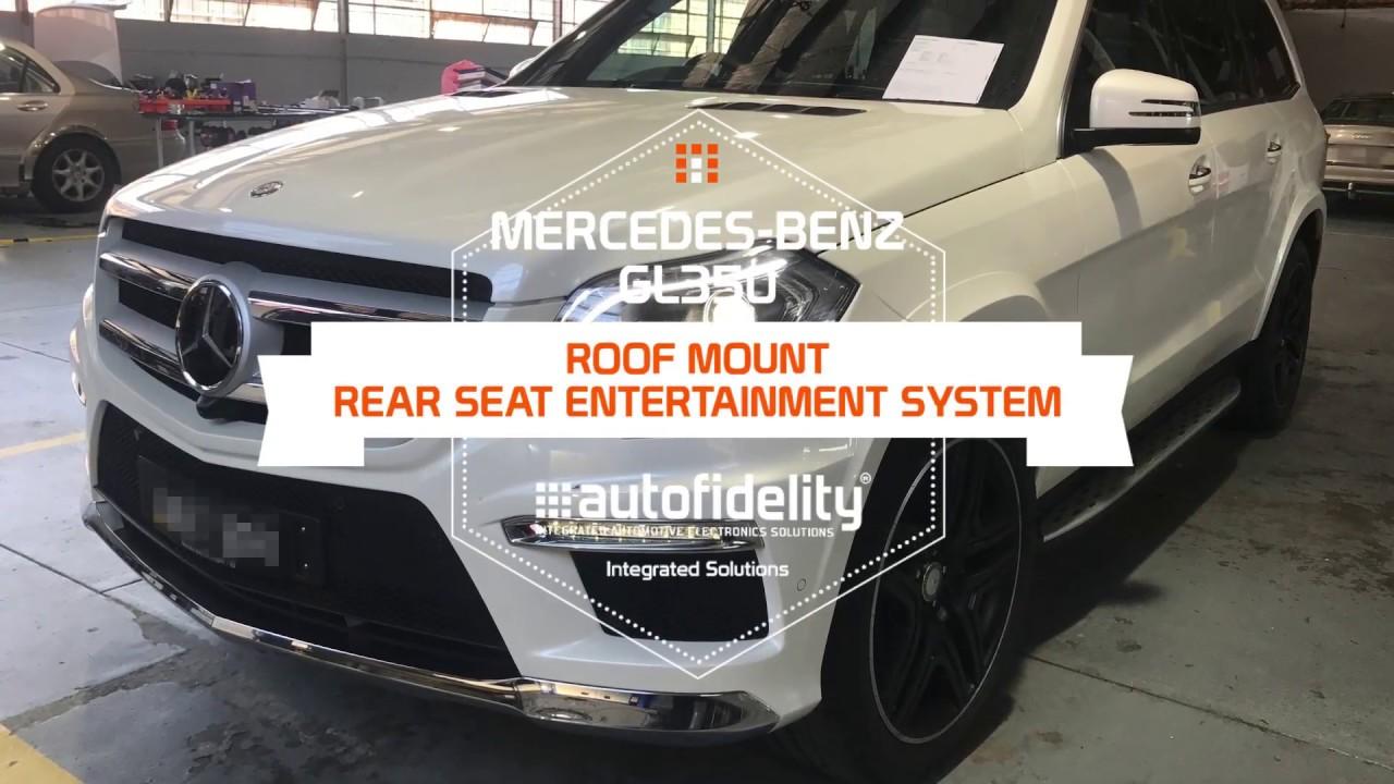 Mercedes benz gl350 roof mount rear seat entertainment for Mercedes benz rear seat entertainment system