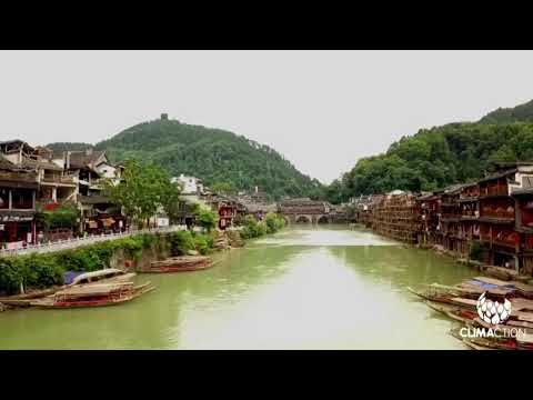 Visit Fenghuang with a drone, Hunan province, china - EnergyTransitionTour 2017