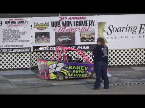 Mini Wedge Feature #1 and #2 at Mt. Pleasant Speedway, Michigan on 07-12-2019!