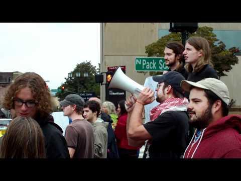 UNC-Asheville Student Democratic Society - Solidarity Demonstration 3.MOV