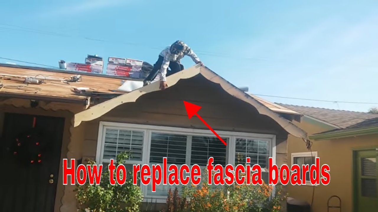 Fascia Board Replacing Damaged Wood Make Your Own Custom Fascia Board
