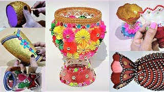 10 Beautiful Flower Vase For Home Decoration   Easy DIY with Plastic Bottle and Paper