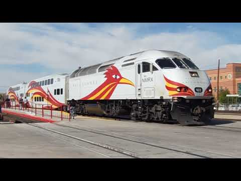NEW MEXICO RAILRUNNER NMRX TRAINS AT ALVARADO TRANSPORTATION CENTER