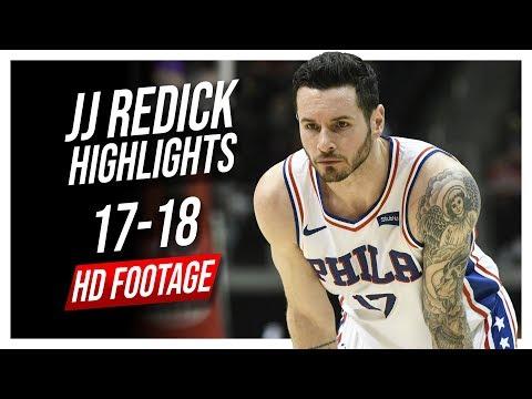 76ers SG JJ Redick 2017-2018 Season Highlights ᴴᴰ