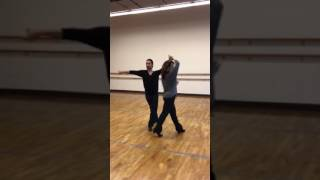 Bronze Rumba routine with arm styling