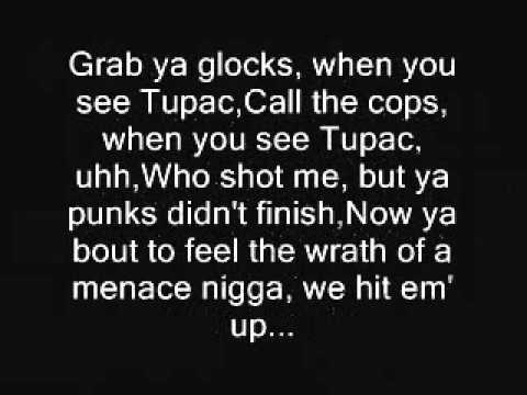 Tupac-Hit em up with lyrics