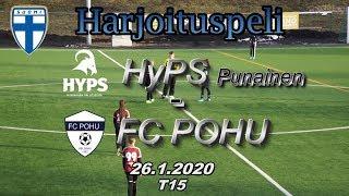 Harjoituspeli T15 HyPS Punainen vs PoHu 26.1.2020