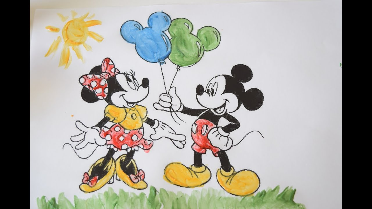 mickey mouse and minnie mouse coloring pages disney coloring book