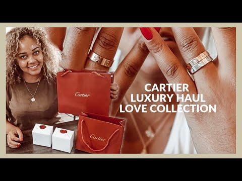LUXURY HAUL | Cartier 8 Diamond + 1 Diamond + Plain Love Rings | Variations