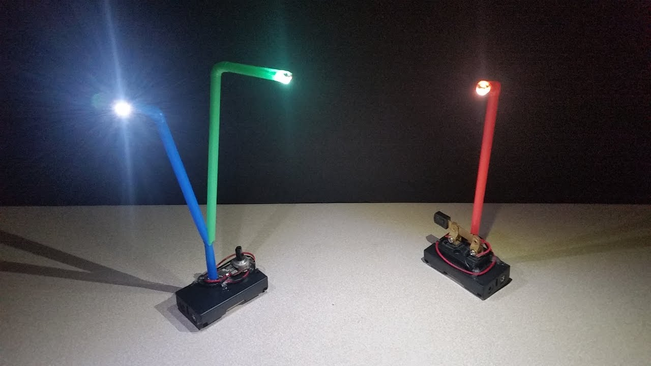 Make A Simple Straw Led Lamp