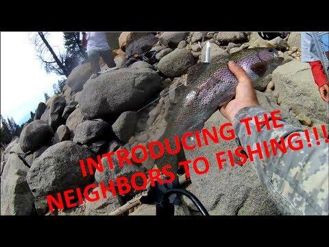 Fishing A Pool With Trapped Fish Huntington Lake CA