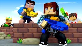 Minecraft: GUERRA DE NERF!! - Casa Dos Youtubers #08