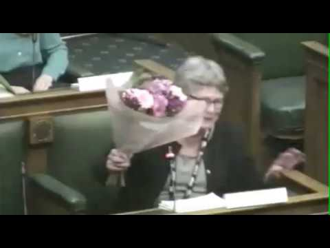 Flowers for Camden Council leader Sarah Hayward as she steps down