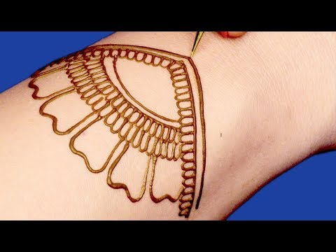 Easy Mehndi Design for Beginners | Easy Mehndi Design For Hands by Sonia Goyal #049