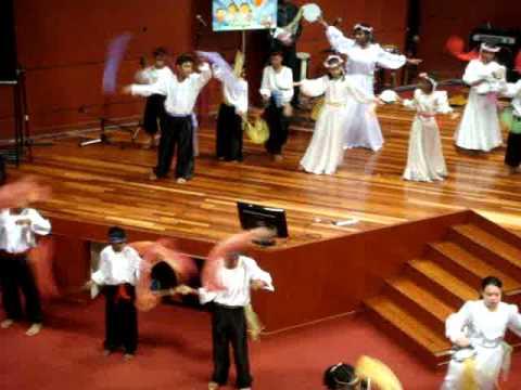 d9a2bc9a3e95 Sunday School Christmas Tambourine Dance - YouTube