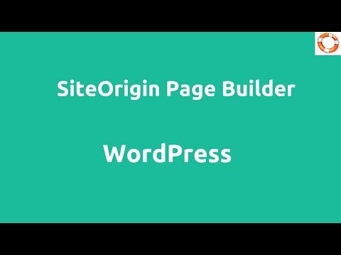 WordPress Site Origin Page Builder