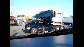 Truck stop Madness! Baltimore Maryland. Timelapse