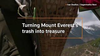 Turning Mount Everest's trash into art