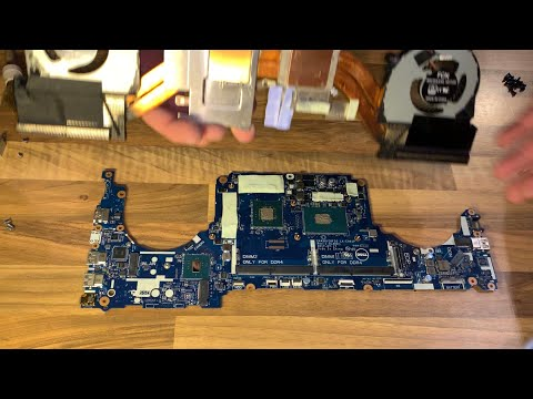 Dell Inspiron 15 7000 7577 gaming Laptop tear down clean fan CPU and GPU replacement Lüfter Wartung