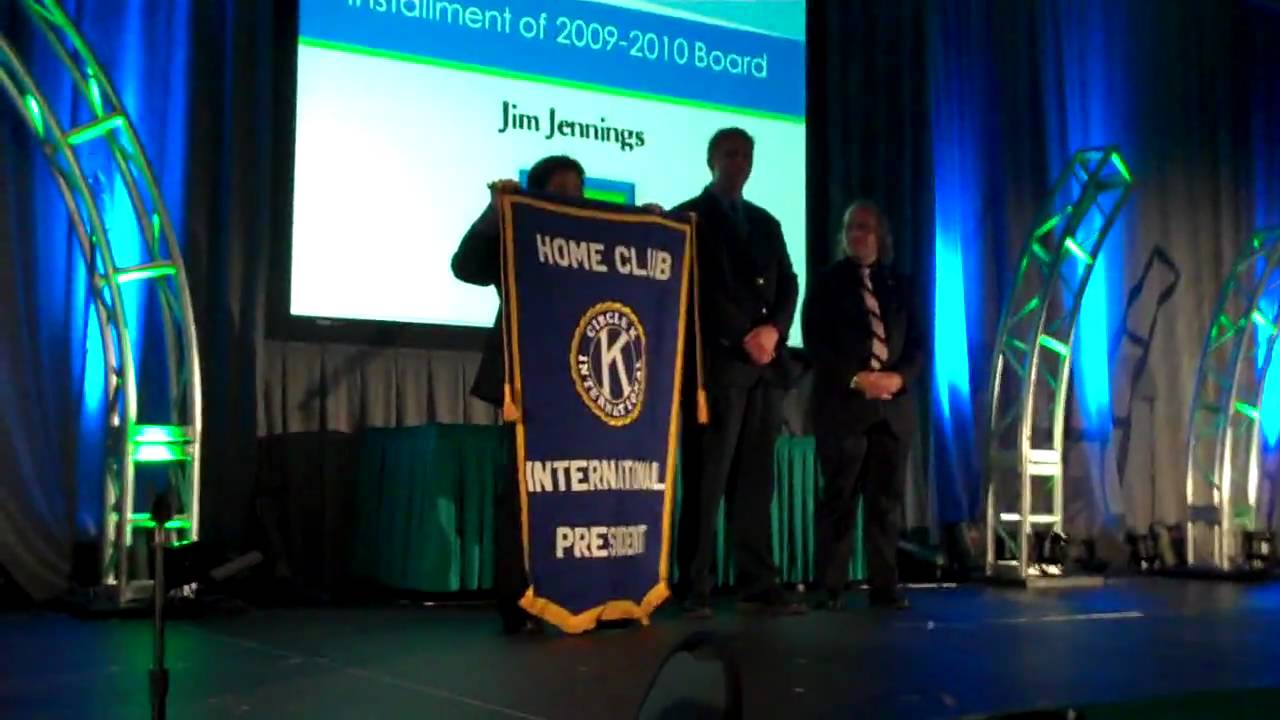 International President's Home Club Banner Passing - 54th Annual Circle K  International Convention