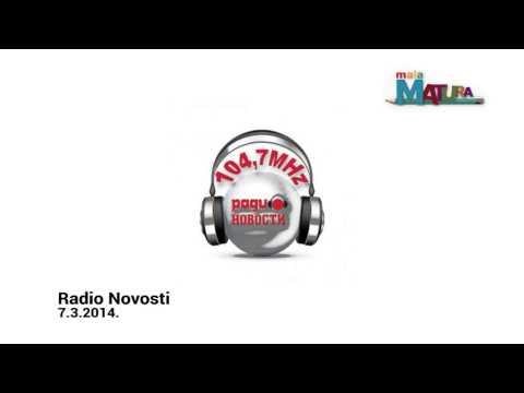 Radio Novosti - prilog o besplatnoj pripremi za malu maturu
