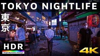 【4K HDR】Tokyo Nightlife & Red Light Districts  Ameyoko(アメ横) & Nakacho(仲町)  Japan Walking Tour
