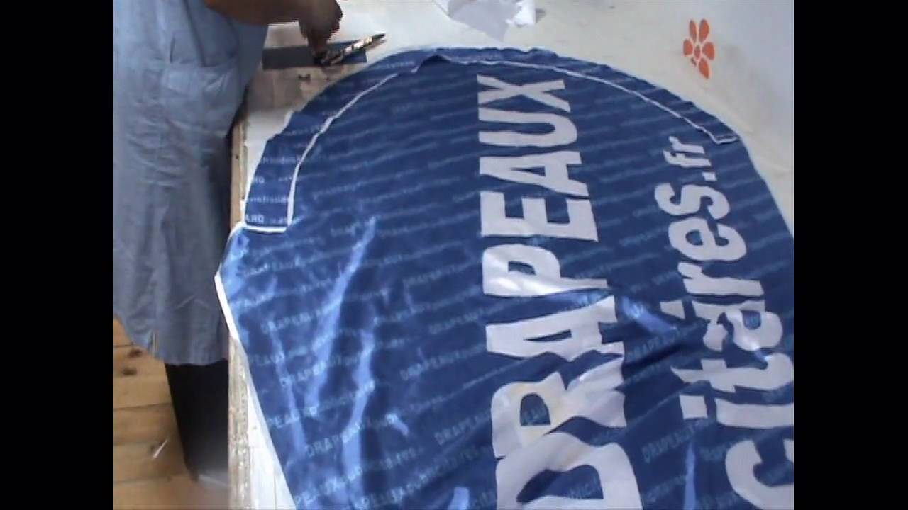 Souvent Fabrication de drapeau - YouTube WD36