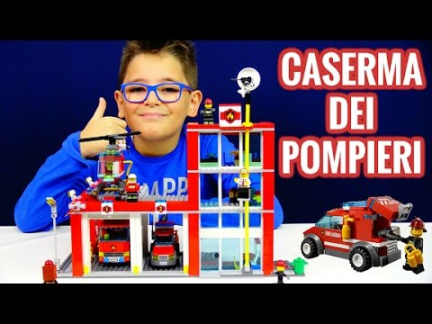 CASERMA DEI POMPIERI LEGO - Leo Toys