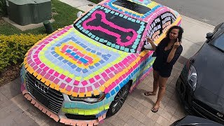 THE BEST REVENGE PRANK!! 😂INSANE STICKY NOTE PRANK ON GIRLFRIEND (100,000+ STICKY NOTES)