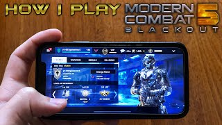MODERN COMBAT 5 ( HOW I PLAY ) iPhone X Touch Screen Gameplay