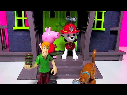 SCOOBY DOO HAUNTED MANSION Parody + PAW PATROL [Marshall] NICKELODEON & PEPPA PIG by EpicToyChannel