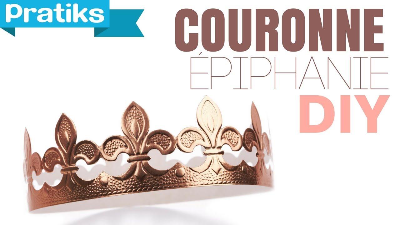 Comment faire une couronne en papier epiphanie youtube - Comment faire une fausse banquise ...