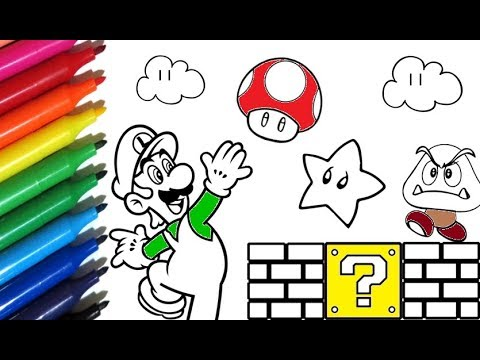 Coloring Pages SUPER MARIO WORLD How to Paint Luigi ...