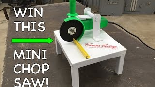 diy mini chop saw harbor freight angle grinder