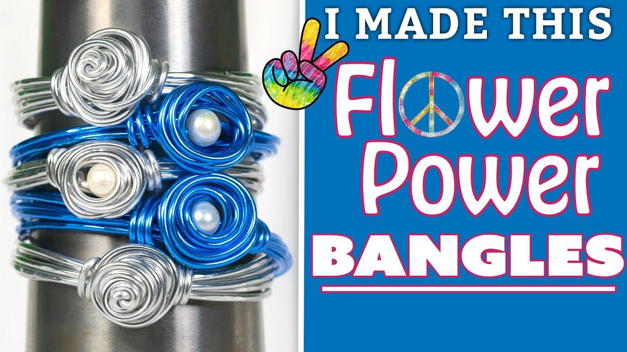 Flower Power Bangles   I Made This