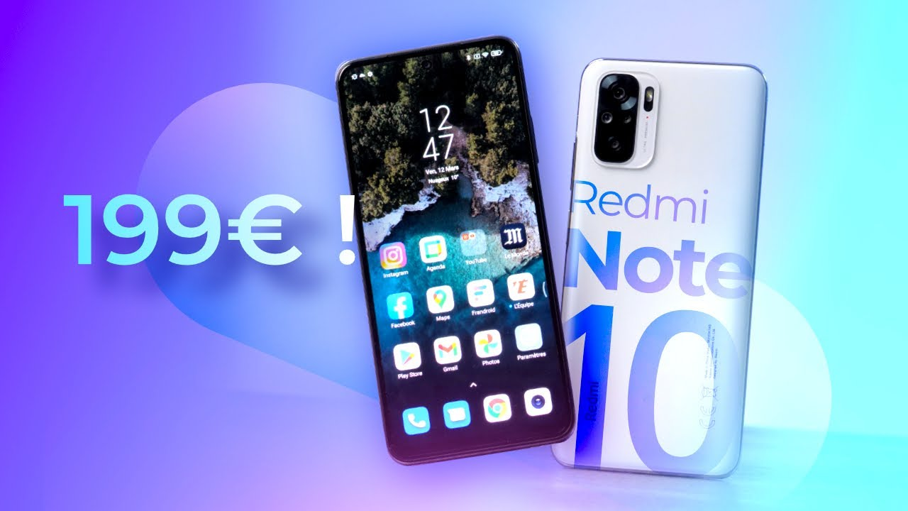 Voici le MEILLEUR SMARTPHONE à moins de 200€ ! (Xiaomi Redmi Note 10) - Frandroid