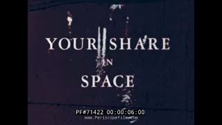 "HISTORIC NASA FILM ""YOUR SHARE IN SPACE""  ECHO 1 SATELLITE LAUNCH 71422"
