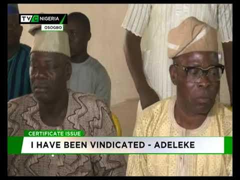 Image result for Certificate saga: I have been vindicated - Adeleke