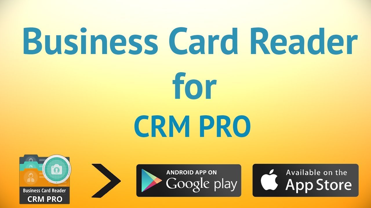 Business Card Reader - CRM Pro - YouTube