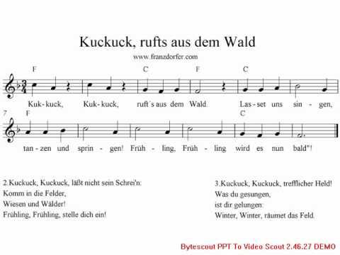 Kuckuck rufts aus dem Wald- karaoke