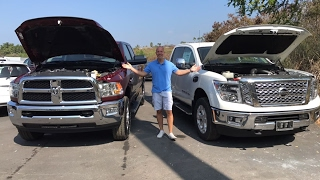 Review:  2017 Nissan Titan XD Cummins vs 2017 Ram 2500 Cummins - Both are great, 1 is better