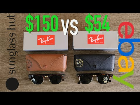 how-to-spot-fake-ray-ban-clubmasters-full-guide---sunglass-hut-vs-ebay