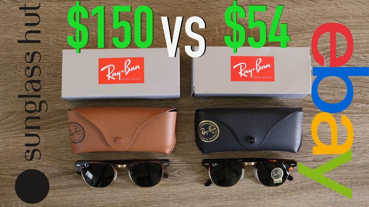 da2e8f1cc1 How to Spot Fake Ray Ban Clubmasters Full Guide - Sunglass Hut vs eBay